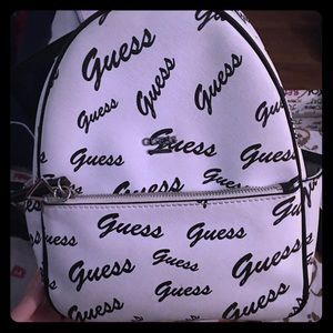 Black and White Guess mini Backpack